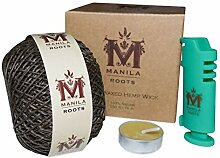 Manila Roots Hemp Wick 250 FT | Enthält 76 M /