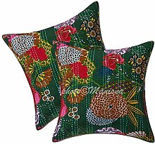 ManionaCrafts Indian Kantha Arbeit Dark