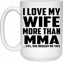 Mann Kaffee Tasse, ich liebe meine Frau mehr als