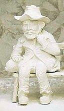 Mann mit Hut Kantenhocker H 73 Farbe rostfarben
