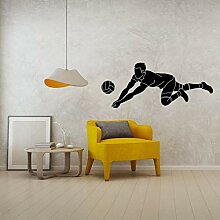Mann Volleyball Spieler In Aktion Wand Vinyl