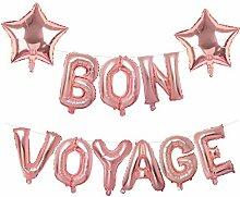 Mannli Bon Voyage Banner Rotgold Ballon-Girlande