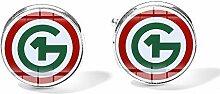 Manschettenknöpfe mit Ungarn-Logo aus Glas, für