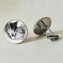 Manschettenknöpfe, Wolf-Design,
