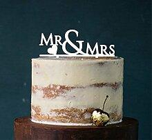 Manschin Laserdesign Cake Topper, Mr & Mrs,