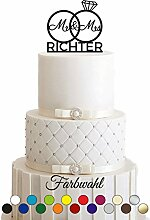 Manschin Laserdesign Cake Topper Tortenstecker,