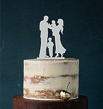Manschin Laserdesign Cake Topper, Tortenstecker,