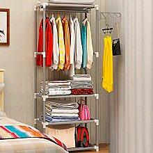 Mantel Garderobe, Boden Kleiderbügel, Innen Kleiderständer, Schlafzimmer Wohnzimmer einfache Racks, Racks ( Farbe : Silber grau )