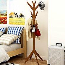 Mantel Racks Einfache kreative Baum Massivholz Landung Mode Wohnzimmer Schlafzimmer Kleiderbügel Regal Kleiderbügel Holz Frische Mode Zweig Form ( Farbe : A )