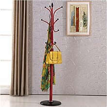 Mantel Racks Landung Einfache moderne Kleiderbügel Einfache Eisen Hanging Frame Creative ( farbe : Rot )
