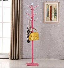 Mantel Racks Landung Einfache moderne Kleiderbügel Einfache Eisen Hanging Frame Creative ( farbe : Pink )