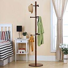 Mantel Racks Landung Massivholz Einfache Mode Schlafzimmer Home Kreative Europäische Stil Kleidung Regale Kleiderbügel ( Farbe : Braun )