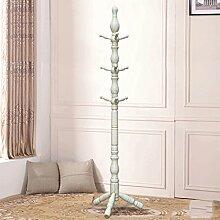 Mantel Racks Landung Massivholz Moderne Kleiderbügel Schlafzimmer Wohnzimmer Einfache europäische Stil ( Farbe : White gold )