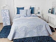 Manterol Tagesdecke Blau Quilt 150(250x 270+