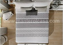 Manterol Tagesdecke grau Cama 180(280x 270+