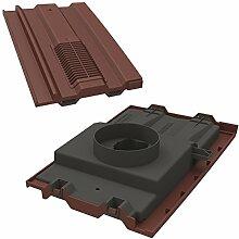 Manthorpe Dachziegel Vent mit Rohr Rohr Adapter 38,1x 22,9cm zu Fit Marley Ludlow Plus, redland 49, forticrete V2Antik Rot strukturier
