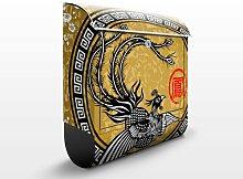 mantiburi Design Briefkasten Asiatischer Pfau 39x46x13cm Briefkasten