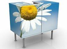 mantiburi Design Waschtisch Ladysun  Waschbeckenunterschrank nicht spiegel-/seitenverkehrt / Vollflächiger Premium Print / 60x55x35cm