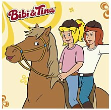 mantiburi FensterBild Bibi und Tina auf Amadeus Kinderzimmer 14x14cm / nicht spiegel-/seitenverkehr