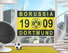 mantiburi FensterBild Borussia Dortmund - 1909 BVB 108x72cm / nicht spiegel-/seitenverkehr