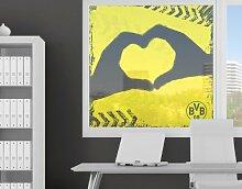 mantiburi FensterBild Borussia Dortmund - Graffiti gelb BVB 60x60cm / nicht spiegel-/seitenverkehr