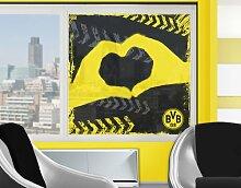mantiburi FensterBild Borussia Dortmund - Graffiti schwarz BVB 60x60cm / nicht spiegel-/seitenverkehr