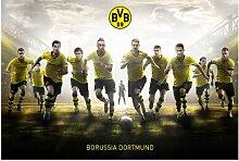 mantiburi FensterBild Borussia Dortmund - Mit Vollgas zum Sieg BVB 16x10cm / nicht spiegel-/seitenverkehr