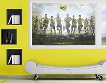 mantiburi FensterBild Borussia Dortmund - Mit Vollgas zum Sieg BVB 108x72cm / nicht spiegel-/seitenverkehr