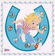 mantiburi FensterBild Prinzessin Emmy - Glücksbringer Kinder Zimmer 33x33cm / nicht spiegel-/seitenverkehr