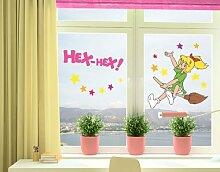 mantiburi FensterSticker Bibi Blocksberg - Eene meene Hexerei Fenster Tattoos 99x90cm / nicht spiegel-/seitenverkehr