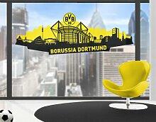 mantiburi FensterSticker Borussia Dortmund - Skyline Dortmund BVB 230x82cm / nicht spiegel-/seitenverkehr