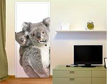 mantiburi Türtapete - selbstklebend Koala Bären 81x208cm