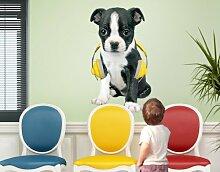 mantiburi WandTattoo Keith Kimberlin® Boston Terrier Wandsticker 25x42cm / nicht spiegel-/seitenverkehr