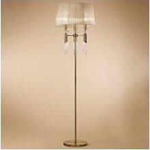 Mantra Stehlampe Tiffany Stehleuchte silberfarben
