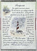 Manuelle holzverarbeiter und Weavers Inspirierende Sammlung 2,5-Lagen Fransen Werfen, 46von 152,4cm Mehrfarbig