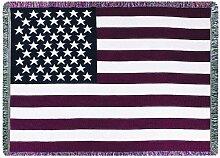 Manuelle Patriotische Collection 46x 152,4cm Tapisserie Überwurf mit Fransen, USA Flagge