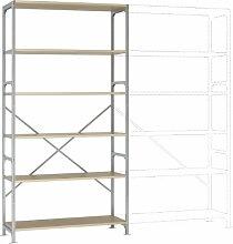 Manuflex Lagerregal Budget , Grundregal mit 6 Holzverbundböden, HxBxT = 2500x1280x600 mm