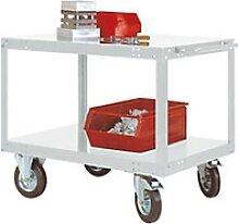 Manuflex Mobil Tischwagen TRANSOMOBIL 2 Fachböden