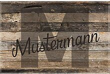 Manutextur Fußmatte mit Namen - Motiv Name -