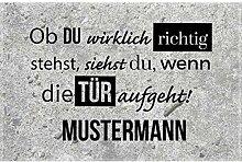 Manutextur Fußmatte mit Namen - Motiv Ob du