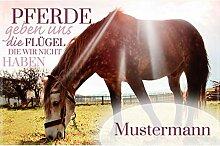 Manutextur Fußmatte mit Namen - Motiv Pferd -