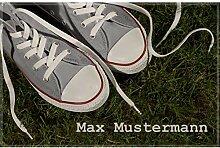 Manutextur Fußmatte mit Namen - Motiv Sneaker -