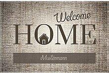 Manutextur Fußmatte mit Namen - Motiv Welcome