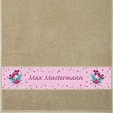 Manutextur Handtuch mit Namen - Motiv Kinder - Fee