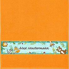 Manutextur Handtuch mit Namen - Motiv Kinder -