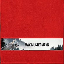 Manutextur Handtuch mit Namen - personalisiert -
