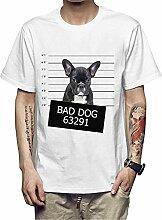 ManY lustige T-Shirts SCHLECHTER Hund Polizei Kopf