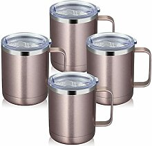 MANYHY Edelstahl-Kaffeebecher mit Griff und