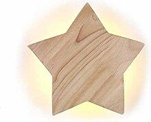 Maod Baby Nachtleuchte LED Holz Star Kreativ