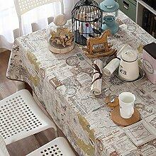 Maoge Familien-Tisch Tuch Vintage Tisch tischtuch